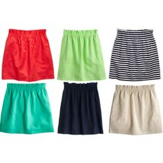 Love the look and comfort of these J Crew skirts