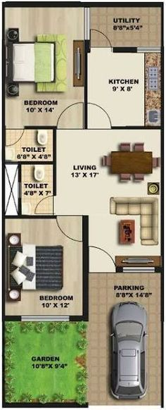 Image result for 20 * 50 house plan