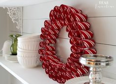 easy ribbon candy wreath, christmas decorations, crafts, seasonal holiday decor, wreaths
