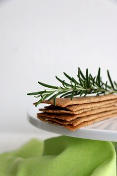 Gluten free, vegan buckwheat and rosemary crackers recipe. Simple, crispy, delicious crackers that are quick and easy to make.