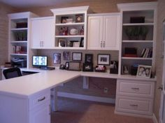 Jun 2014 - Central Indiana Custom Home Office Cabinets. Serving Carmel, Fishers, Westfield, Noblesville, and the Indianapolis Metro. Home Office Space, Home Office Design, Home Office Decor, Home Decor, Office Ideas, Office Spaces, Ikea Office, Work Spaces, Bedroom Office