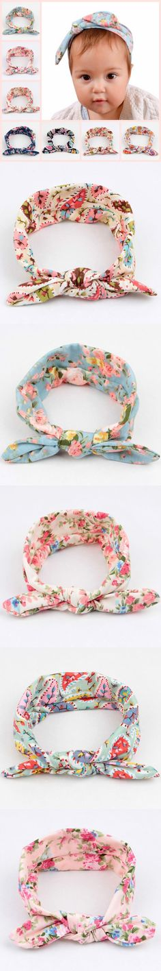 2016 New Baby Floral Printed Top Knot Headband for Girl Hair Fashion Flower Baby Turban Headband Girl Cotton Headwrap 20pcs/lot