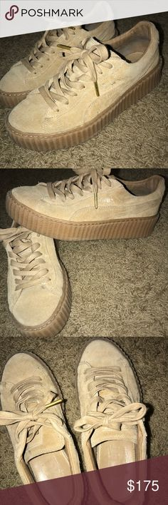 Fenty puma creepers Rihanna Fenty Pune creepers in oatmeal color! Only worn maybe 10 times Puma Shoes Sneakers