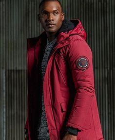 wine red Superdry Everest Parka Jacket