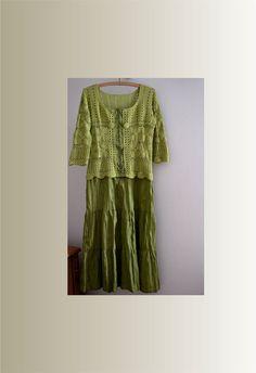 Abito di cotone estivo abito verde oliva femminile vestito