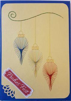 Weihnachten 009 - Motiv: Stitching Cards - Doppelkarte mit Umschlag Format A6