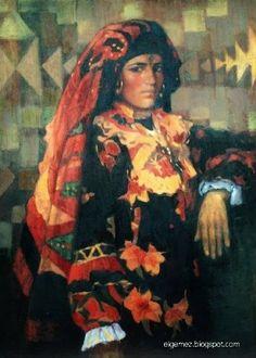 Egyptian women by the Egyptian artist Abdel Aal Hassan .. ... عبد العال حسن