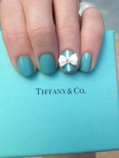 My Tiffany & Co nails!