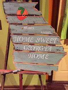 Extra large Pallet board state of Georgia by kathyleeskreations on Etsy