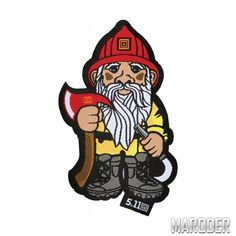 Нашивка Firefighter Gnome Patch. 5.11 Tactical – Украина Patches, Tactical Equipment, Tactical Clothing, Morale Patch, A Hook, Firefighter, Gnomes, Bowser, Activities