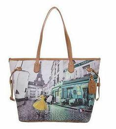 Borsa Donna Y NOT ? Shopping Art.C-319 Media New Collection 2014 Stampa Parigi