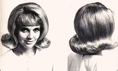The Flip, the iconic early 60s hairdo I remember I loved this and wished I was old enough to have one!