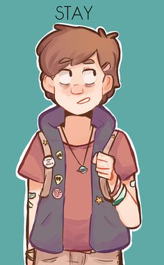Fun Fact: Stay Weird was a hidden code in the opening of the Gravity Falls Journal Dipper Pines, Dipper Y Mabel, Gravity Falls Fan Art, Gravity Falls Dipper, Chibi, Fall Tumblr, Gavity Falls, Pinecest, Mabill