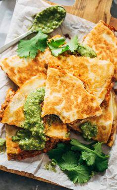 Quick & Easy Lentil Quesadillas #recipe #quesadillas #lentils