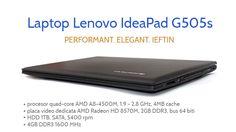 Lenovo IdeaPad G505s ofera atat performanta decenta cat si un aspect elegant si o autonomie buna. Usor si comod de utilizat, acest laptop beneficiaza de un procesor quad-core AMD A8-4500M, o placa video dedicata tot de la AMD cu 2GB memorie, HDD spatios de 1TB si 4GB memorie DDR3 http://wp.me/p3boNm-VH