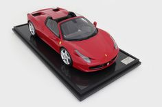 Red Ferrari 458 Spider Model Car in 1:8 Scale by Amalgam