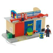 postman pat Mini Teds Garage Playset  Turn the playset around to reveal the inside of the Garage, and recreate your favourite scenes from Postman Pat. This playset includes Ted Glen and an oil drum. Connects to the Big SDS Van (sold separately). Age range 3yrs+.  http://www.comparestoreprices.co.uk/postman-pat/postman-pat-mini-teds-garage-playset.asp