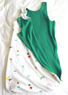DIY Merino Wool Infant Sleep Sack from the Lua Sleep Sack pattern by Straight Grain