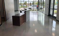 Polished Concrete for Commercial Office. Polished Concrete, Commercial, Industrial, Home Decor, Decoration Home, Room Decor, Industrial Music, Home Interior Design, Home Decoration
