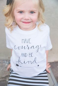 """Have Courage and Be Kind shirt for kids! Inspired by the new Cinderella movie, this is the ultimate inspirational tee, perfect for your littles!  @beapparelaz <a class=""""pintag searchlink"""" data-query=""""%23havecourageandbekind"""" data-type=""""hashtag"""" href=""""/search/?q=%23havecourageandbekind&rs=hashtag"""" rel=""""nofollow"""" title=""""#havecourageandbekind search Pinterest"""">#havecourageandbekind</a>"""