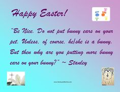Stanley and Katrina: Happy Easter!