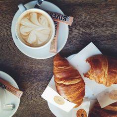 Butter croissants & coffee | VSCO cam