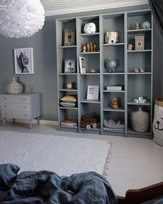 I love that you are all so creative! Look at this smart IKEA hack by with our sleeping bear paper bag. Today we got some of the samples on. Ikea Kids, Ikea Billy, Kids Bedroom Furniture, Toddler Rooms, Kidsroom, Boy Room, Room Interior, Room Inspiration, Shabby