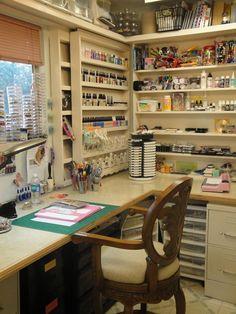 25 +> like the sliding shelves . great space saver for artists! - like the sliding shelves …… great space saver for artists! Craft Room Storage, Craft Organization, Craft Rooms, Storage Shelves, Book Storage, Craft Room Shelves, Art Supplies Storage, Paint Storage, Book Shelves