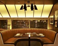 Paramount Hotel Bar and Grill. Lighting Design by Kugler Ning Lighting Design #Paramount #RestaurantDesign #LightingDesign #NYC
