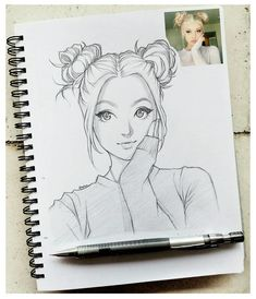 Manga Drawing This Illustrator Sketches People As Anime Character And The Result Is Impressive ⋆ Anime Anime Drawings Sketches, Girly Drawings, Cartoon Drawings Of People, Sketches Of People, Cartoon Sketches, Pencil Art Drawings, Anime Sketch, Cool Sketches, Manga Drawing