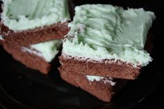 Mint Brownies Recipe-my grandma used to make these for me. Brings back good memories