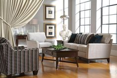 Perspectives Sofa and Love Seat by Broyhill - High Point-Discount Furniture Local Furniture Stores, Furniture Sale, Discount Furniture, Living Room Interior, Home Living Room, Living Room Furniture, Broyhill Furniture, Luxury Furniture Brands, Chair And Ottoman