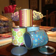 Next classroom project- paint cans as pencil holder for teacher desk and for call-on-you-at-random Popsicle sticks!