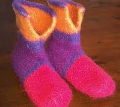 Image result for knitting felted slippers pattern