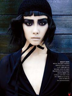 magical black: toni garrn and ji young kwak by francois nars for vogue korea july 2013 | visual optimism; fashion editorials, shows, campaigns & more!