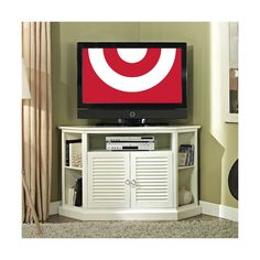 Walker Edison Shuttered Door Corner TV Stand TARGET $351