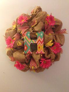 Monogram wreath. https://www.etsy.com/listing/153982371/monogram-wreath?ref=shop_home_active