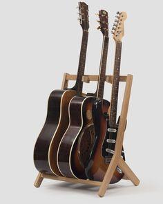 Wooden Multi Guitar Stand, Oak