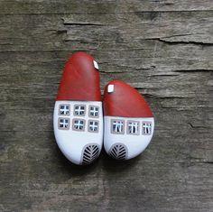 ,,Domečky - malované kameny,,