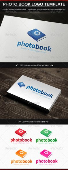 Photo Book Logo Template - DOWNLOAD NOW ;)