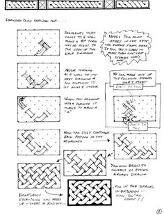 Drawing Celtic Knots Page 2  This method is taken from unfinished Celtic manuscripts. It's easy.