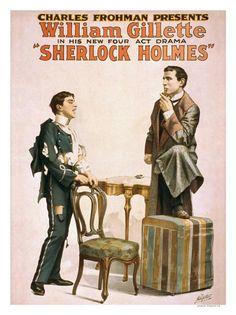 Vintage Theatre Poster - Sherlock Holmes - 1909