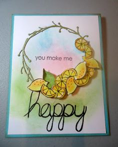 You Make Me Happy by @imbydesign for @therubbercafe using #Card #stamping #creativecafekotm