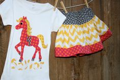 Horse Birthday Shirt by sherunslikeagirl on Etsy, $28.00
