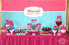 spa birthday party cake ideas | ... Beauty Spa party for a 10 year old called Kara. As told by Belinda