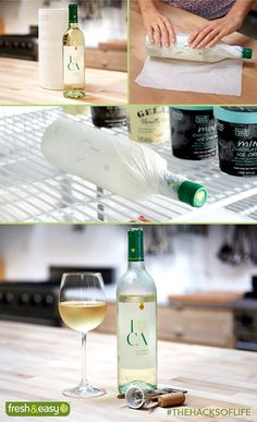 Wet paper towel + wine = total chill wine! #ToTTfulTips