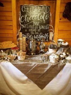 Coffee and hot chocolate bar
