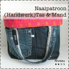 Sewing Pattern (in Dutch): Make a reversible Jeans Bag (which you can use as a basket as well!)