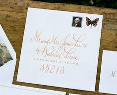 gorgeous calligraphy in orange | Stephen DeVries #wedding