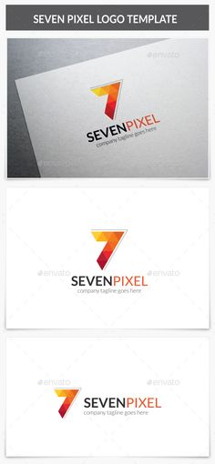 Seven Pixel Logo by XpertgraphicD Logo Description : Very stylish, clean and modern logo template. This logo is fully vector graphic. This logo template can be used 7 Logo, Typography Logo, Logo Branding, Logo Design Template, Logo Templates, Pixel Logo, Seven Logo, Lato Font, Best Logo Design